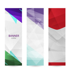 set vertical bright banners with empty place vector image