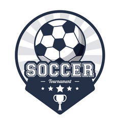 Soccer sport tournament emblem image vector