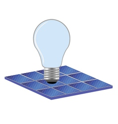solar panel and bulb vector image