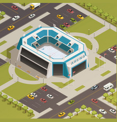 Stadium sport arena isometric composition vector