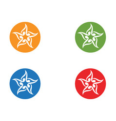 star logo and symbols icons template app vector image