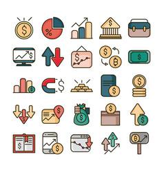 stock market financial business economy money vector image
