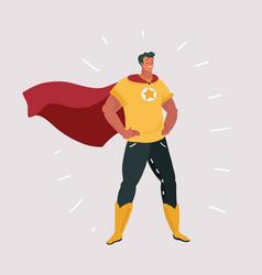 superhero character cartoon vector image