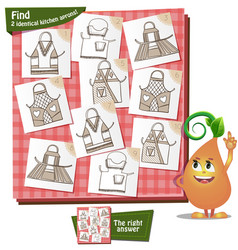 Visual game kitchen aprons vector