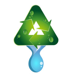 water drop recycling vector image