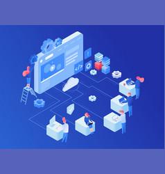 web hosting platform isometric vector image