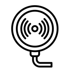 Wireless charger icon outline style vector