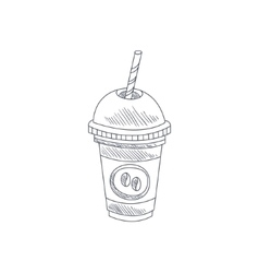 Coffee Cocktail Hand Drawn Sketch vector image