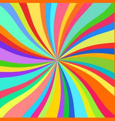 colorful rays kaleidoscope vector image