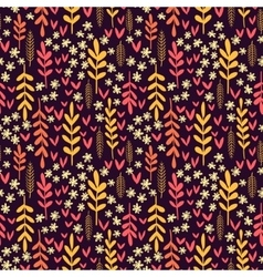 Decorative seamless autumn pattern vector image vector image