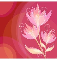 Elegant colorful flower invitation postcard vector image