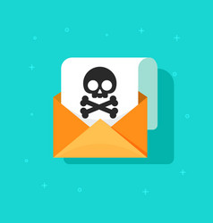 email spam icon scam e-mail message vector image vector image