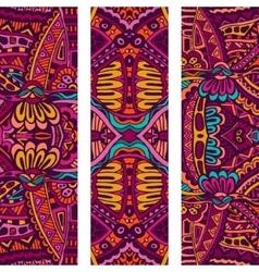 Festive tribal colorful ornamental banner vector