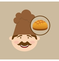 french bread baker vector image