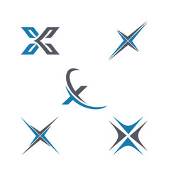 letter x business and logo vector image
