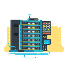 server data center design flat vector image