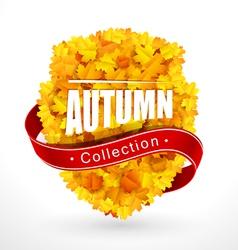 Autumn emblem vector image vector image