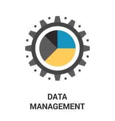 data management icon vector image