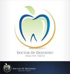 dental clinic logo dentist vector image vector image