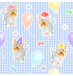 funny dogs wallpaper vector image