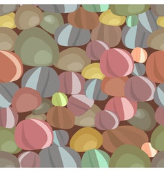 stones pebbles seamless pattern vector image