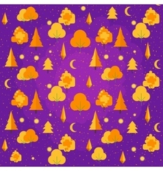 Autumn Tree seamless pattern Fall theme vector image