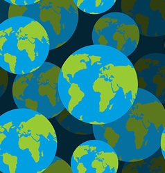 Earth seamless pattern 3D background of Sign of vector image