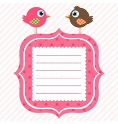 frame with cute birds vector image vector image