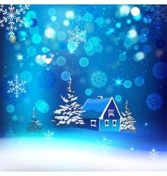 Snow village vector image vector image
