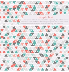 triangle background card template with place for vector image vector image