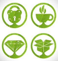 eco signs vector image vector image