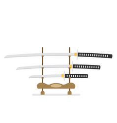 flat katana icon isolated on white background vector image