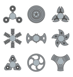 hand fidget spinner extra grey icon set vector image vector image