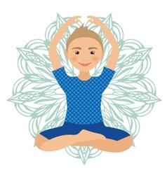 Kids Yoga Pose Child doing vector image vector image