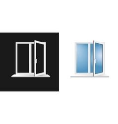 window frame on background vector image vector image