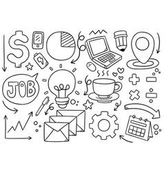0006 hand drawn doodle elementals businesses vector