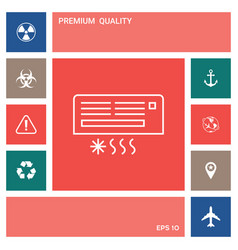 air conditioning icon elements for your design vector image