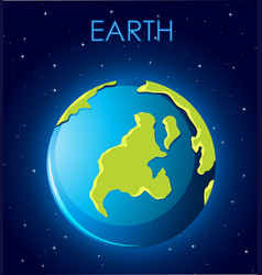 an earth in space vector image