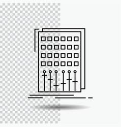 audio control mix mixer studio line icon on vector image
