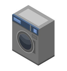 Automatic wash machine icon isometric style vector