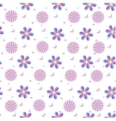 background of purple fantasy flowers vector image