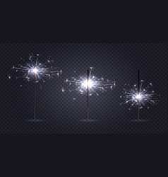 Bengal lights transparent set vector