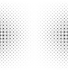 black and white circle pattern - geometric vector image