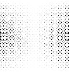 Black and white circle pattern - geometric vector