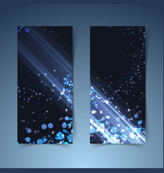 bright glowing abstract vertical banners vector image