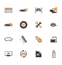 car shop icons set vector image