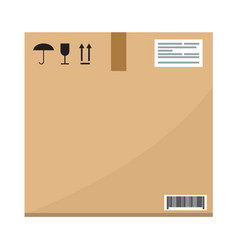 Cardboard carton container box package s side view vector