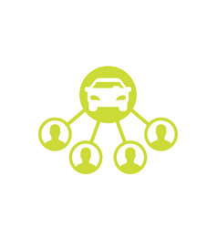 Carsharing icon on white vector