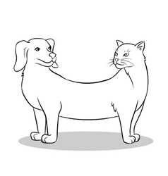 cat dog fake animal coloring vector image