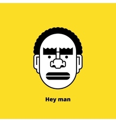 Character design black angry man avatar vector